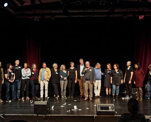 35 Jahre BIF Vortrag Symposium Bild Team auf Bühne